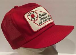 Vtg Red Dot Heaters AC Mesh Snapback Trucker Hat Short Brim Patch K Bran... - $30.84