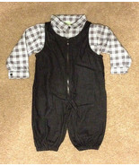 Baby Boys' Toddler Outfit Denim Overall and L/S Button Shirt Size 18M EUC - $10.69
