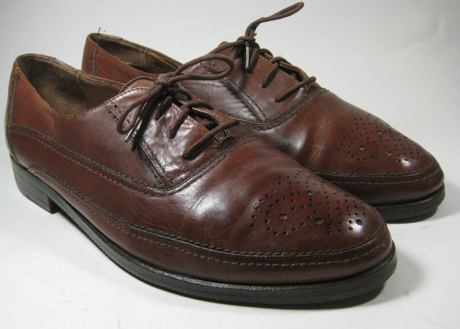 $595 BALLY 9.5D Brown Tan Oxford Made in and 12 similar items
