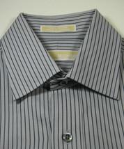 MICHAEL KORS Md 15.5 x 32/33 Rich Gray Black  Stripe Dress Shirt RARE - €34,34 EUR