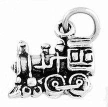 STERLING SILVER SMALL TRAIN ENGINE CHARM/PENDANT - $8.59
