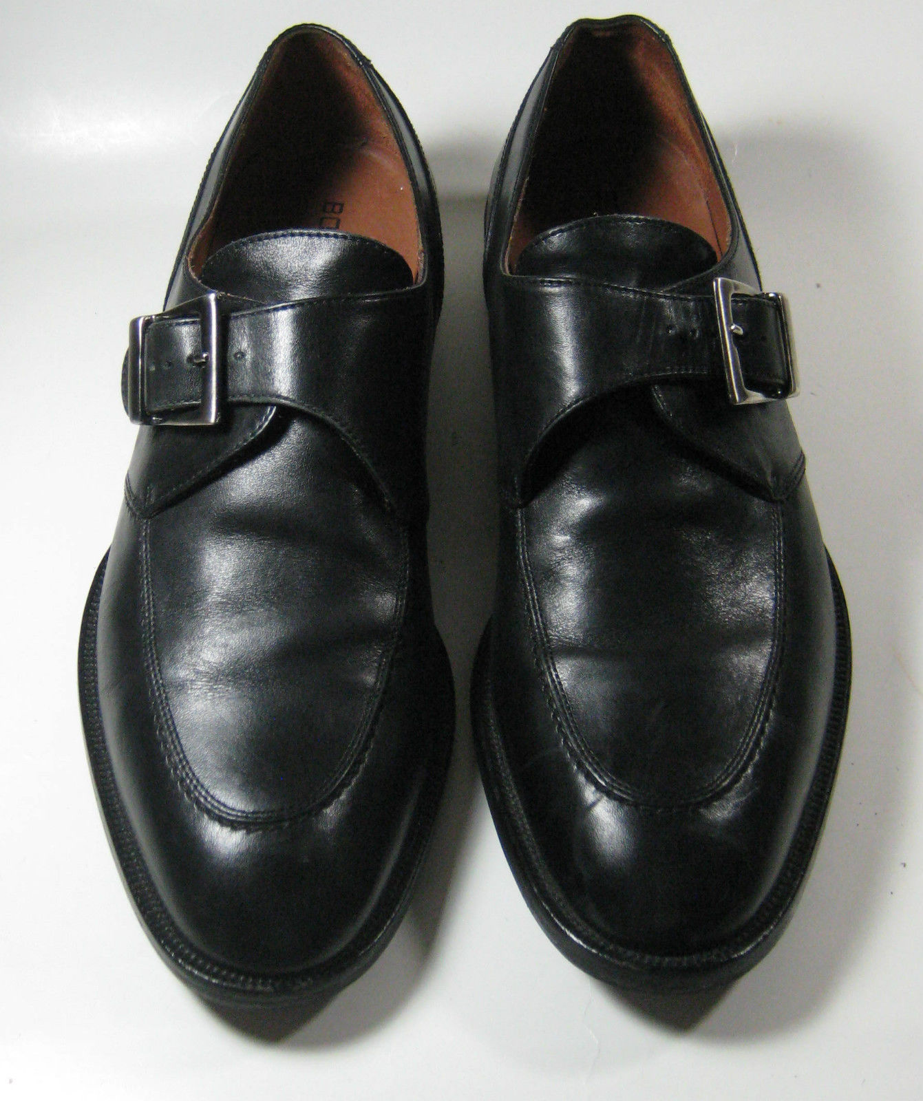 6aa9f168f06 Bostonian 7.5 D Black Monk Strap Leather and 36 similar items
