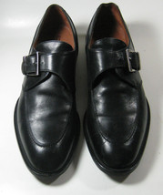 Bostonian 7.5 D Black Monk Strap Leather Sleek Quality Italy Loafers Rare - $99.99
