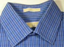 MICHAEL KORS 16.5 X 34/35 Rich Blue Navy Plaid  Dress Shirt - €59,52 EUR