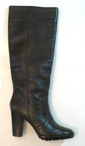 Kenneth Cole New York 9 M Brown Leather  Knee High Boots Rare Exquisite Excellent - $69.29