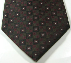 ROBERT TALBOTT Best of Class Rich Green Brown  Geometric  100% Silk Tie ... - $99.99