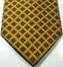 Brooks Brothers Makers Gold With Burgundy Diamonds 100% Silk Rare - $99.99
