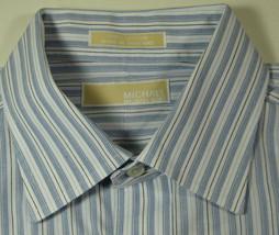 MICHAEL KORS Lg 16.5 x 32/33 Blue White Stripe Shirt RARE - €42,93 EUR