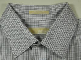 MICHAEL KORS 17.5 x 34/35 Gray White Plaid Checks Gingham  Dress Shirt - €42,93 EUR