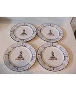 "Totally Today Coastal Lighthouse 4 Salad Desert Plates 7 5/8""  Sailboats... - $24.74"