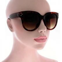 """Tortoise Shell """"OverSized Designer Frame Sunglasses"""" brown large square ... - $7.57"""