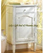 Antiqued STORAGE CABINET Nightstand Hand Distressed Finish (#39093) - $128.00