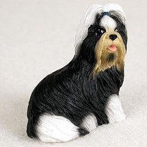 SHIH TZU BLACK WHITE  TINY ONES DOG Figurine St... - $8.99