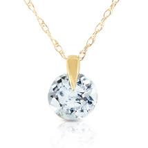 "Brand New 0.65 CTTW 14K Solid gold 18"" fine Unforgettable Aquamarine Necklace - $78.81+"