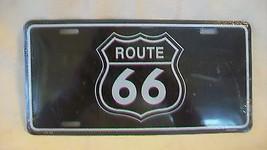 Route 66 Logo Decorative Black Metal License Plate - $19.78