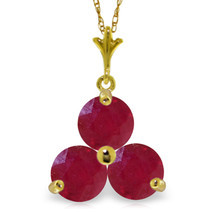 """Brand New 0.75 CTTW 14K Solid gold 18"""" fine Heartbeat Ruby Necklace - $101.32+"""