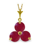 """Brand New 0.75 CTTW 14K Solid gold 18"""" fine Heartbeat Ruby Necklace - $1.998,62 MXN+"""