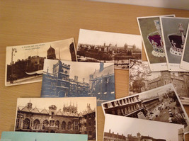 Lot of 19 Antique Postcards Views of England Black White