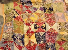 Vintage Floral Quilt Blanket SILK Multicolor Pastel rose edges