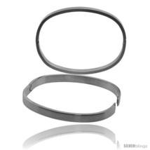 Stainless Steel Oval Bangle Bracelet For men, 8  - $17.70