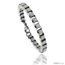 Stainless Steel Box Chain Link Bracelet, 1/4 in wide, 7  - $21.99