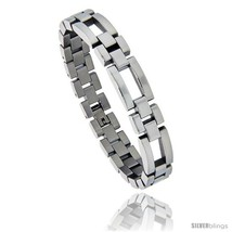 Stainless Steel Polished Watch Band Style Bracelet, 1/2 in wide, 8.25  - $25.12