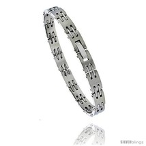 Stainless Steel Ladies Bar Link Bracelet, 7.5  - $27.51