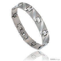 Stainless Steel Men's Zig Zag Bar Bracelet, 8 3/4  - $15.69