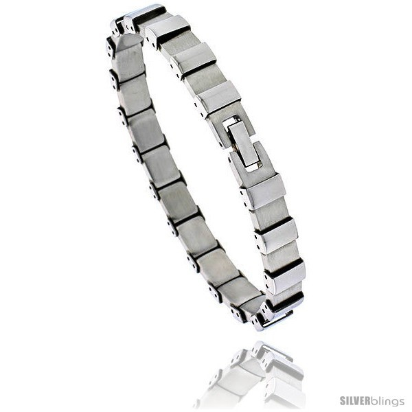Primary image for Stainless Steel Men's Bracelet Square Links, 8 in