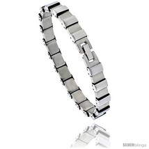 Stainless Steel Men's Bracelet Square Links, 8 in  - $32.31
