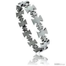 8 1/2 in. Stainless Steel Maltese Cross Bracelet, 5/8 in. (15 mm)  - $24.45