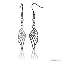 Surgical Steel Angel Wings Dangle Earrings 2 1/4 in  - $23.94