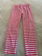 Gap Kids Girls White Pink Striped Fleece Pajama Pants 6 - $6.43
