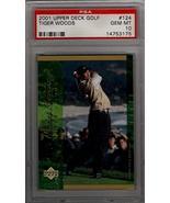 2001 Upper Deck Golf Tiger Woods Rookie RC #124 PSA Gem Mint 10 - $204.25