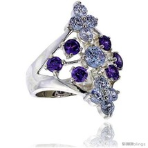 Size 9 - Highest Quality Sterling Silver 1 1/8 in (28 mm) wide Ladies'  - $116.03