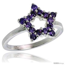 Size 8 - Highest Quality Sterling Silver 1/2 in (13 mm) wide Ladies' Star  - $57.01