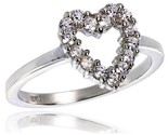 Terling silver 1 2 in 11 mm wide ladies heart cut out ring brilliant cut cz stones thumb155 crop