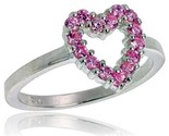 mm wide ladies heart cut out ring brilliant cut pink tourmaline colored cz stones thumb155 crop