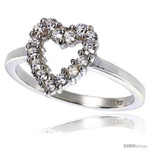 Size 8 - Highest Quality Sterling Silver 1/2 in (11 mm) wide Ladies' Heart  image 2
