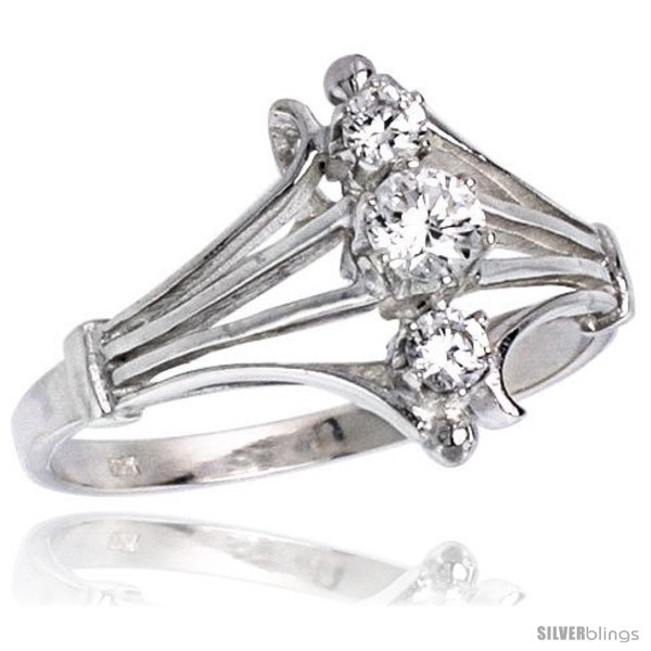 Hest quality sterling silver 1 2 in 12 mm wide diamond shaped stone ring brilliant cut cz stones