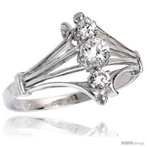 Size 8 - Highest Quality Sterling Silver 1/2 in (12 mm) wide Diamond-sha... - $32.60