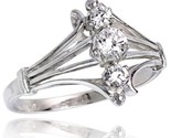 Terling silver 1 2 in 12 mm wide diamond shaped stone ring brilliant cut cz stones thumb155 crop