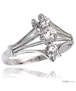 Ty sterling silver 1 2 in 12 mm wide diamond shaped stone ring brilliant cut cz stones thumbtall