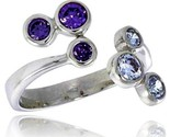 16 mm wide right hand ring bezel set brilliant cut alexandrite amethyst colored cz thumb155 crop
