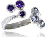 16 mm wide right hand ring bezel set brilliant cut alexandrite amethyst colored cz thumb155 crop