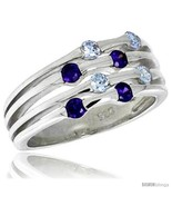 3 8 in 10 mm wide right hand ring brilliant cut alexandrite amethyst colored cz stones thumbtall