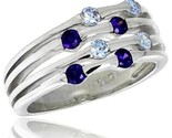 In 10 mm wide right hand ring brilliant cut alexandrite amethyst colored cz stones thumb155 crop