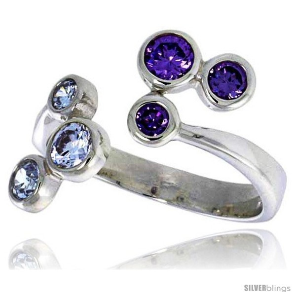 Size 9 - Highest Quality Sterling Silver 5/8 in (16 mm) wide Right Hand Ring,