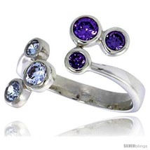 Size 10 - Highest Quality Sterling Silver 5/8 in (16 mm) wide Right Hand Ring,  image 2