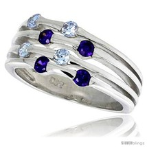 Size 8 - Highest Quality Sterling Silver 3/8 in (10 mm) wide Right Hand Ring,  image 2